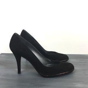 Stuart Weitzman suede classic heels pumps